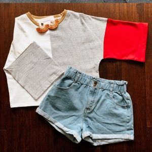 3/4 cropped Tee